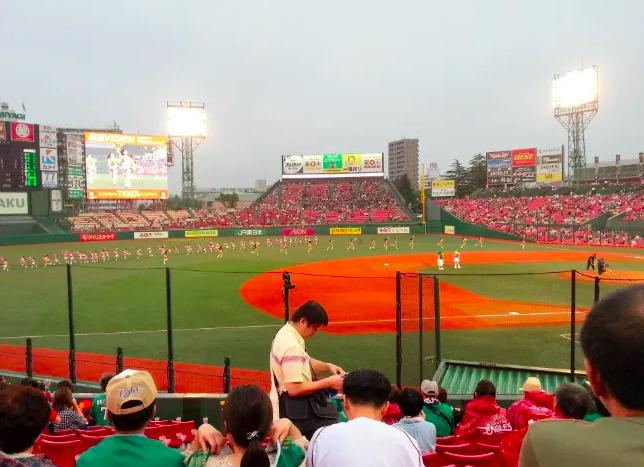 内野指定席3塁側の見え方の画像 【値段:6,700円程度】