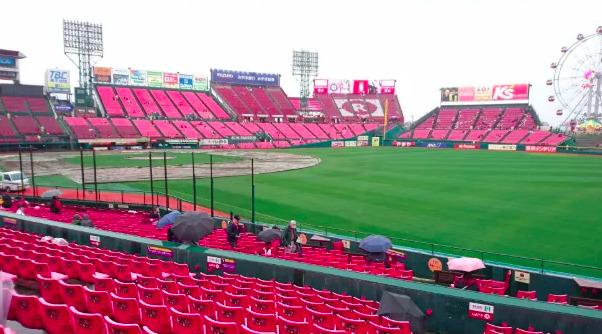 内野指定席1塁側の見え方の画像 【値段:6,500円程度】