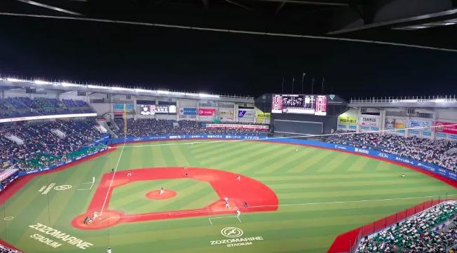 内野自由席の見え方の画像 【値段:2,400円程度】