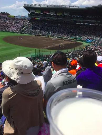 3塁アルプス席の見え方の画像 【値段:2,500円程度】