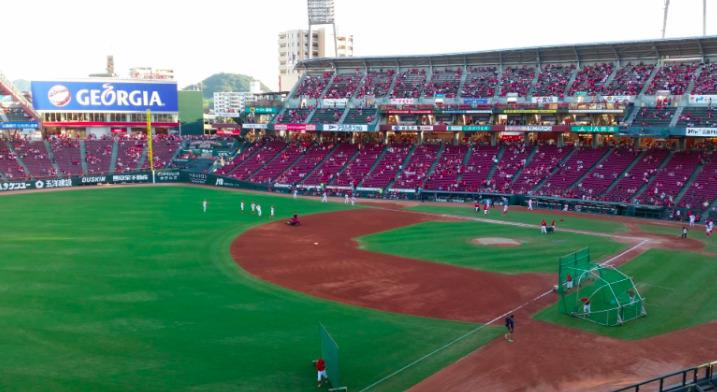 3塁側パフォーマンス席の見え方の画像 【値段:1,900円程度】